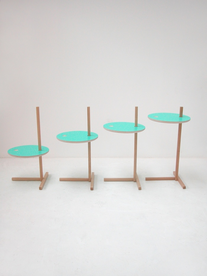 Side table for an apple